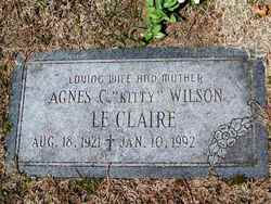 Agnes C. <i>Wilson</i> Le Claire