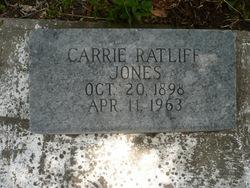 Carrie <i>Ratliff</i> Jones