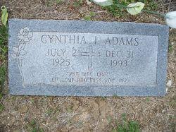 Cynthia Inez Inez <i>Lowe</i> Adams