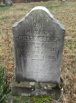 Esther Jane Hetty <i>Rowe</i> Bortz