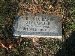 Virginia <i>Baker</i> Alexander