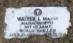 Sgt Walter L. Mains