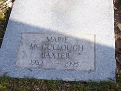 Marie <i>McCullough</i> Baxter