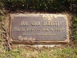 Jane <i>Cook</i> Barrett