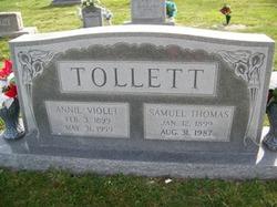 Annie Violet <i>Barnwell</i> Tollett