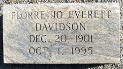 Florre Jo <i>Everett</i> Davidson