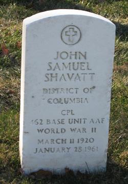 Corp John Samuel Johnny Shavatt