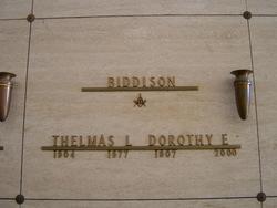 Dorothy E Biddison