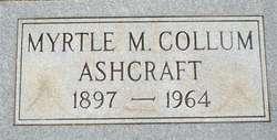Myrtle M. <i>Collum</i> Ashcraft
