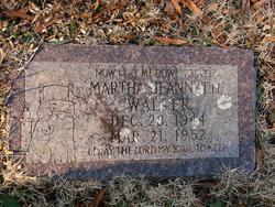 Martha Jeannette Waller