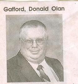 Donald Olan Gafford