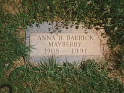 Anna J <i>Boyd</i> Mayberry