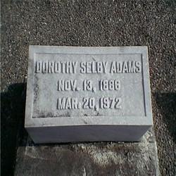 Dorothy <i>Selby</i> Adams