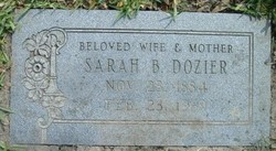 Sarah Byas <i>Stump</i> Dozier