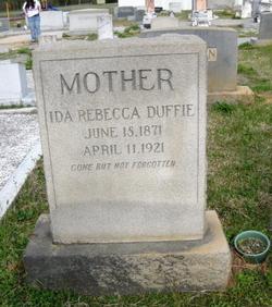 Ida Rebecca <i>Ethridge</i> Duffie