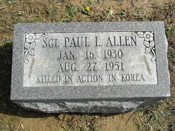 Sgt Paul L Allen