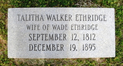 Talitha <i>Walker</i> Ethridge