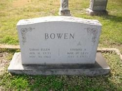 Sarah Ellen <i>Douglas</i> Bowen