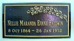 Nellie Maranda <i>Evans</i> Baldwin