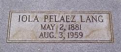 Iola <i>Pelaez</i> Lang