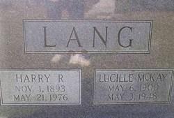 Lucille <i>McKay</i> Lang