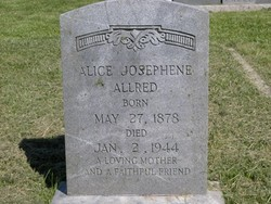 Alice Josephene <i>Sink</i> Allred