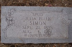Julia Ellen Spud <i>Cox</i> Simon