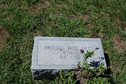 Prisilla Paige <i>Wyman</i> Bacon