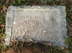 Anna Mercer <i>Metcalfe</i> Barrow