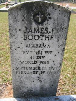 Pvt James Franklin Boothe