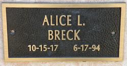 Alice LaVerne <i>Enevoldsen</i> Breck