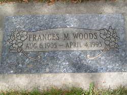 Frances M <i>Baker</i> Woods