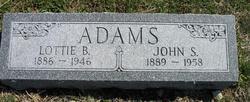 Lottie B. <i>McKean</i> Adams