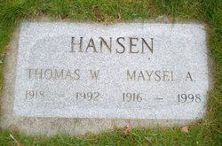 Maysel Arminta <i>Shaeffer</i> Hansen