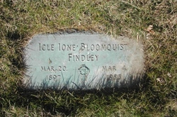 Icle Ione <i>Woolsey</i> Findley