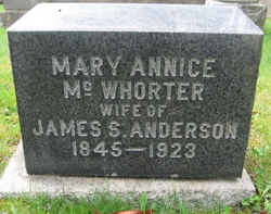 Mary Annice <i>McWhorter</i> Anderson