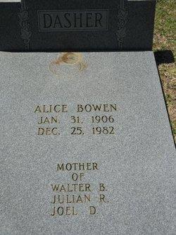 Alice <i>Bowen</i> Dasher