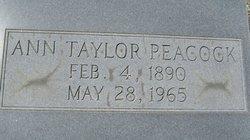 Annie Charlotte Ann <i>Taylor</i> Peacock