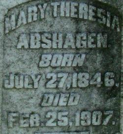 Mary Theresia Maria <i>Heuck</i> Abshagen