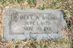 Bert William Brown