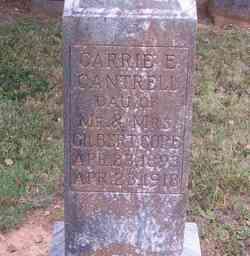 Carrie E <i>Cope</i> Cantrell