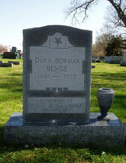 Dora <i>Bowman</i> Benge