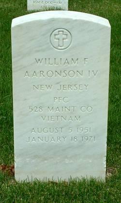 PFC William F Aaronson, IV