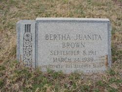 Bertha Juanita <i>Schlosser</i> Brown