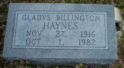 Gladys <i>Leslie</i> Billington Haynes