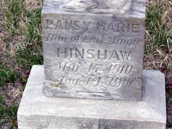 Pansy Marie <i>Hinshaw</i> Hinshaw
