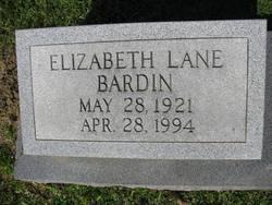 Elizabeth <i>Lane</i> Bardin