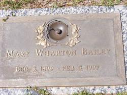 Mary <i>Wharton</i> Bailey