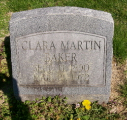 Clara Levenia <i>Martin</i> Baker