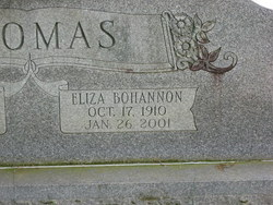 Eliza <i>Bohannon</i> Thomas